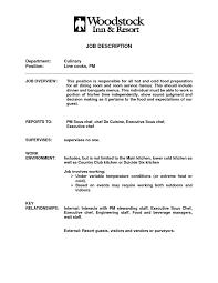 Resume Line Cook Job Description Sidemcicek Com