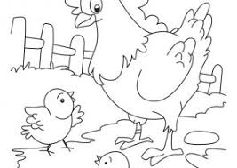 Small Picture Chicken Coloring Pages Coloring4Freecom