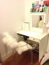 corner makeup vanity bedroom