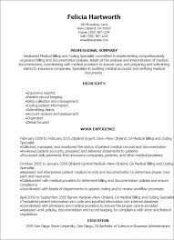 Medical Billing Resume Examples Beauteous Medical Billing And Coding Specialist Resume Template Best Design
