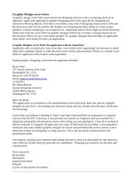 Cover Letter For Resume Graphic Designer