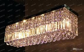 rectangular crystal chandelier led crystal chandelier rectangle led lamps modern ceiling bar lighting l w rectangular crystal rectangular crystal