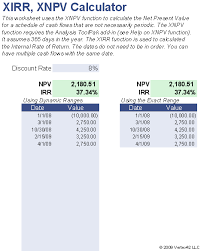 online cash flow calculator npv calculator irr and net present value calculator for excel