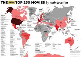 the imdb top movies by main location x mapporn the imdb top 250 movies by main location 3473 x 2456