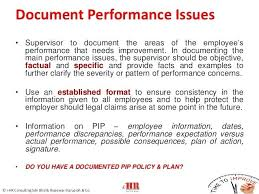 Employee Performance Improvement Plan Template Sample Areas Of For ...
