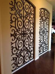 iron wall art. Faux Iron: Budget Blinds 940-595-2546. These Iron Pieces Look Wall Art A