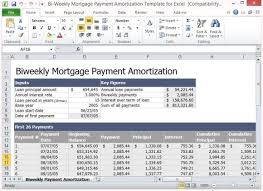 excel amortization templates bi weekly mortgage payment amortization template for excel