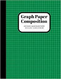 Graph Paper Composition Notebook Grid Paper Notebook Quad