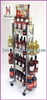 Bar Bottle Display Stand Metallic Countertop Wine Bottle and Glass Display HolderWooden 64