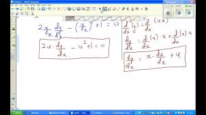 solving diffeial equation 2xy dy dx y 2 x 2 0