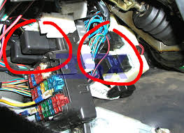 factory relays for 3000gt stealth oem mitsubishi mitsubishi k l are circled on the left m n o are on the right behind the main fuse panel