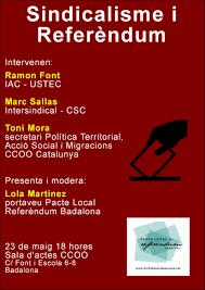 Resultat d'imatges de referèndum catalunya ccoo