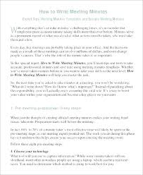 How To Write Minutes Template Stand Up Meeting Minutes