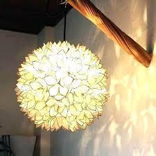flower ceiling light fixture shell pendant lights lighting hanging lamp white full size bathroom fantastic capiz shell hanging lamp