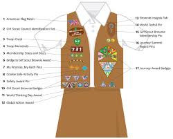 Brownie girl scout badge