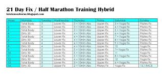long distance running workout calendar