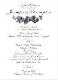 Night Oasis Wedding Menu Card Cards And Sample Reception