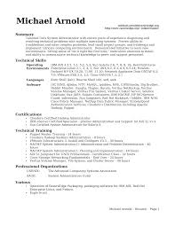 Resume Samples For System Administrator Job Position Vinodomia