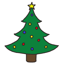 Trees Outline Clip Art At Clkercom  Vector Clip Art Online Christmas Tree Outline Clip Art