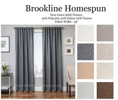 linen curtain panels. Brookline Homespun Linen With Blackout Lining And Grommets Option Curtain Panels
