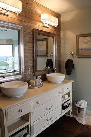 rustic plank wall in bathroom the