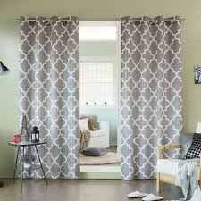 Lush Decor Lake Como Curtains Aurora Home Velvet Moroccan Print Grommet Top 84 Inch Curtain
