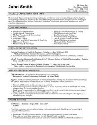 Student Lab Assistant Sample Resume Medical Resume Templates Free Downloads Medical Laboratory 2