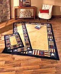 primitive star area rugs patriotic rug set accent runner cabin cottage
