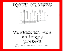 french er verbs french er verbs crossword puzzle regular er verbs etsy