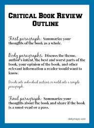 critical book review example and tutorial daily o critical book review outline