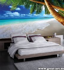 Palm Tree Decor For Bedroom Beach Theme Bedroom Beautiful Sea Scenery Can Be Seen By Staying
