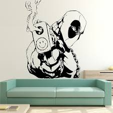 on vinyl wall art stickers with deadpool vinyl wall art decal