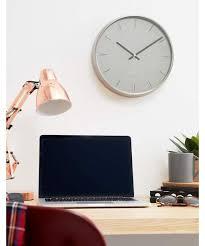 umbra umbra nickel metal wall clock 31