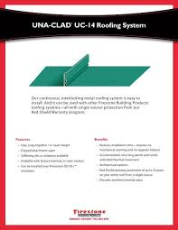 Firestone Metal Products Color Chart Una Clad Uc 14 Roofing System Firestone Building Products