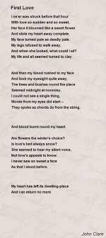 first love poem by john clare poem hunter
