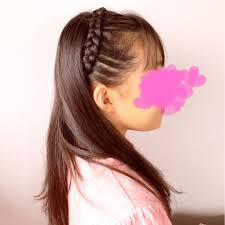 スタンダードな編み込みカチューシャ 女の子のママ必見子供のヘア