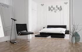 Minimalistisch Eingerichtetes Schlafzimmer In Schwarz Weiß