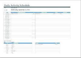 Calendar Scheduler Template Weekly Activity Calendar Template