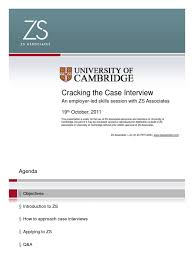 zs case study 11 university of cambridge interview