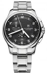 men s victorinox swiss army officer s chronograph watch 241592