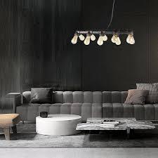 Glighone 10 Lichter Industrial Hängeleuchte Wasserrohr Lampe