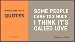 Winnie The Pooh Love Quotes Classy Winnie The Pooh Quotes Funny Famous Greeting Card Poet