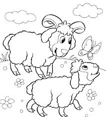 Farm Animals Coloring Page Sheep For Coloring Free Printable Farm