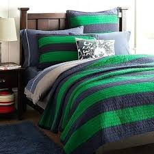 rugby stripe quilt rugby stripe quilt sham navy bright green pink and white rugby stripe bedding