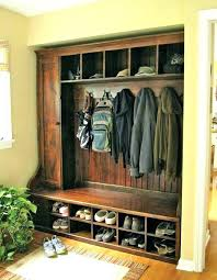 Entry Hall Coat Rack Adorable Storage Hall Tree Coat Hanger With Bench Coat Rack And Shoe Bench