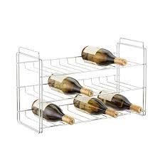 chrome wine rack. Unique Rack Chrome 18Bottle Stackable Wine Rack  With 0
