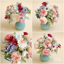 Paper Flower Arrangements 3christine Paper Design Paper Flowers Centerpiece2 Flower Making