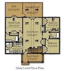 small lake home floor plans