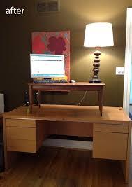 diy standing desk conversion.  Desk DIY 5 Minute Standing Desk Conversion  ModHomeEc Need Another Level For  The Screen Desks Pinterest Desks Diy Standing Desk And Office  Throughout Y