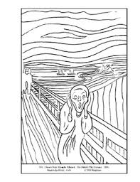 the scream coloring sheet. Plain Scream The Shriek Scream Coloring Page And Lesson Plan Ideas In Scream Sheet
